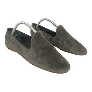 Vince Gray Milo Suede Leather Slip On Loafers